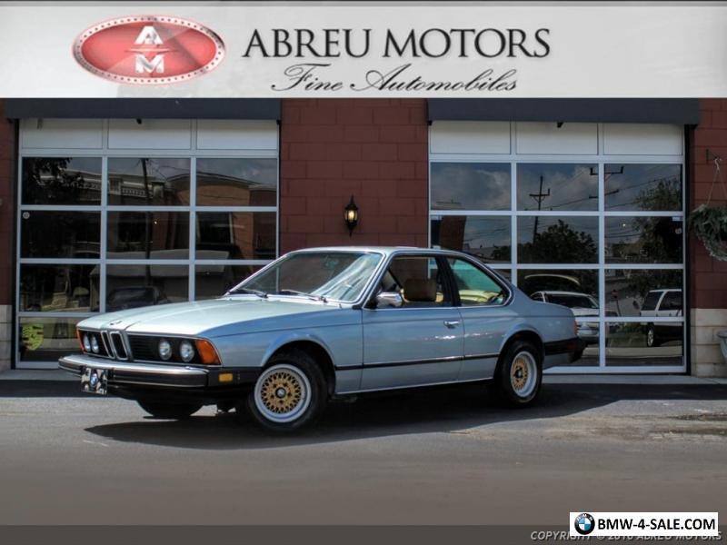 1980 BMW 6-Series 633CSI for Sale