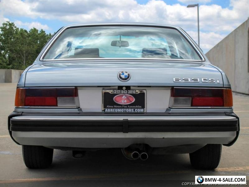 1980 bmw 6 series 633csi for sale in canada. Black Bedroom Furniture Sets. Home Design Ideas