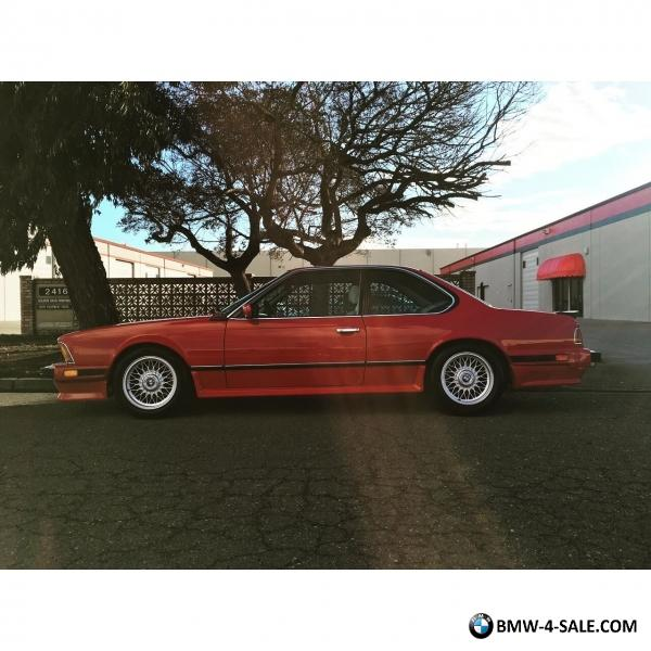 1987 BMW M6 E24 For Sale In United States