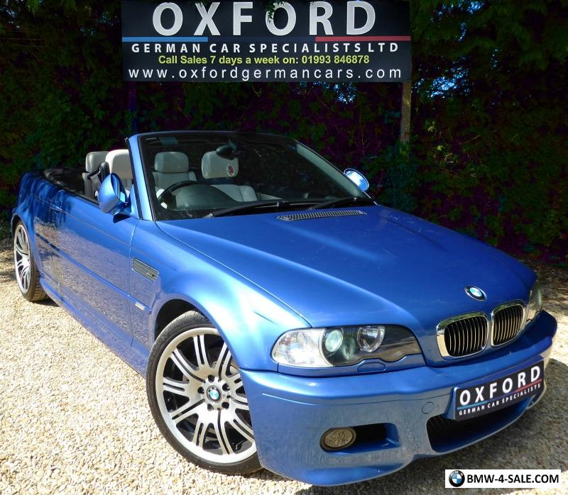 2002 Sports/Convertible M3 For Sale In United Kingdom