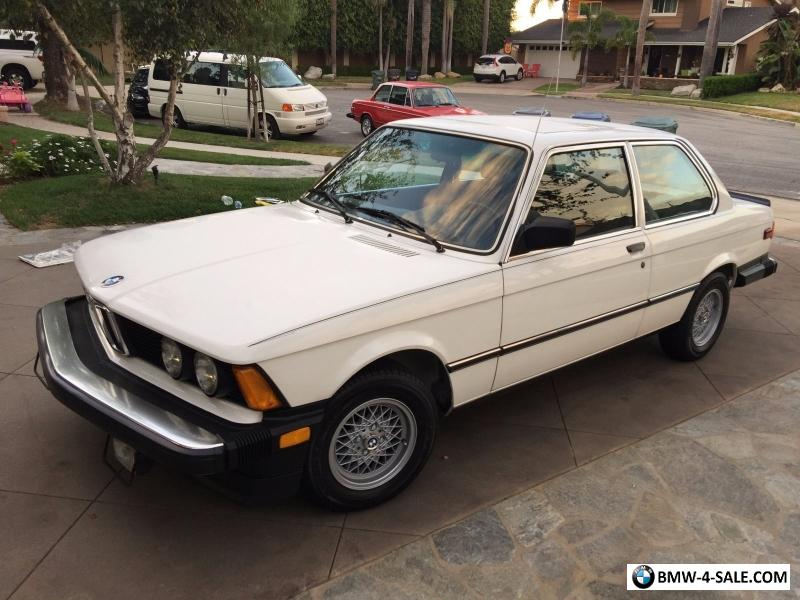 1982 BMW 3-Series Sport Package for Sale in United States