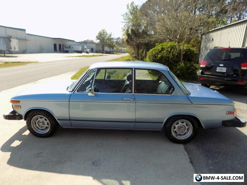 BMW 2002 Tii For Sale >> 1974 Bmw 2 Series 2002 Tii For Sale In United States