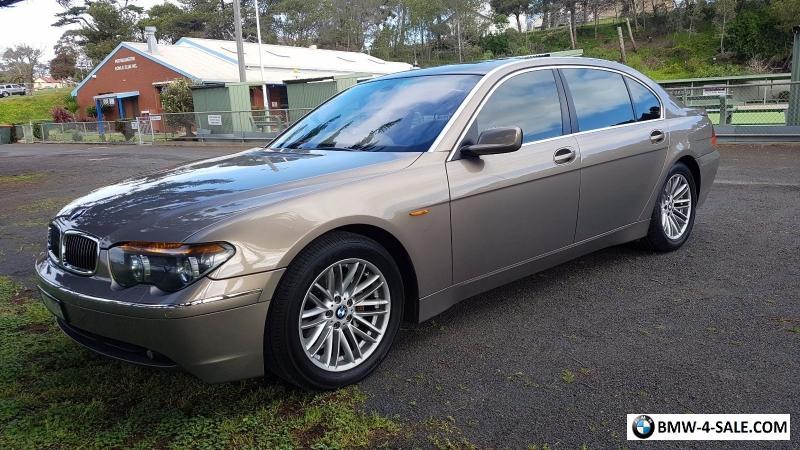 BMW 735Li 2002 Bronze Cream Interior For Sale