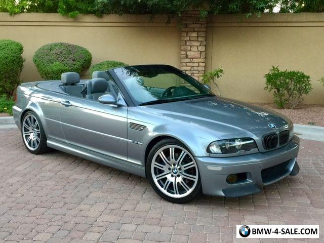 BMW M3 Convertible >> 2003 Bmw M3 E46 M3 Convertible Csl Zhp For Sale In United States