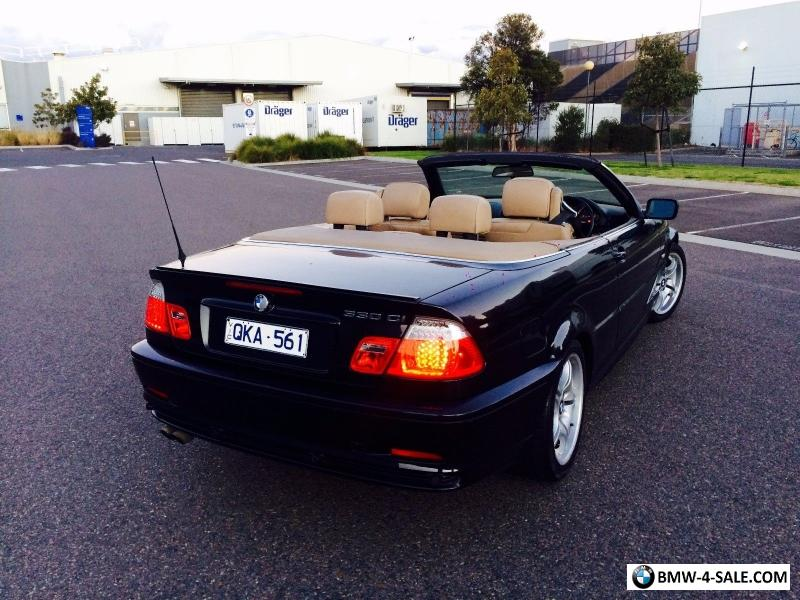 2000 Bmw 330 Black Soft Top Convertible Tourer Auto Rego For
