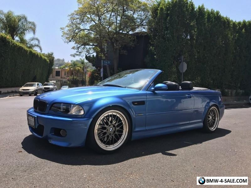 Bmw M3 Convertible >> 2003 Bmw M3 Convertible For Sale In United States