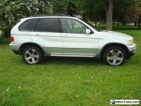 BMW X5 IN SILVER WITH PRIVATE PLATE IN EXCELLENT CONDITION...