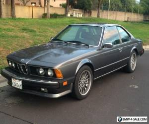 1987 BMW 6-Series E24 for Sale