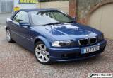BMW 318ci convertible 2002 with private plate and low mileage for Sale