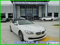 2012 BMW 6-Series CALL AARON 305-582-6541
