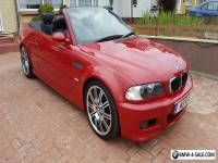 BMW M3 3.2 CONVERTIBLE 2001 51REG PRIVATE PLATE IMOLA RED WITH BLACK LEATHER
