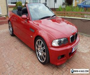 BMW M3 3.2 CONVERTIBLE 2001 51REG PRIVATE PLATE IMOLA RED WITH BLACK LEATHER  for Sale
