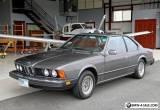 1979 BMW 6-Series 633CSi for Sale