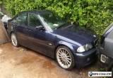 BMW E46 323i SE AUTO 2.5LITRE PETROL 4DR SALOON 1999 2000 BLUE BREAKING 4 PARTS for Sale