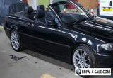 BMW E46 318I CONVERTIBLE BLACK IN COLOUR PART SERVICE HISTORY GOOD CONDITION for Sale