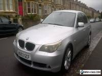 BMW 530d SE, Auto Titanium Silver with black Dakota Leather interior