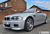 BMW M3 E46 2003, 3.2 CONVERTIBLE, SILVER, MANUAL, HPI CLEAR, LOW MILES!!!!!!!!!! for Sale
