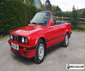 BMW E30 318i cabriolet convertible manual, late model 1992, classic mag featured for Sale