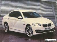 BMW 520d Luxury Saloon in Alpine White and Black Dakota Leather interior