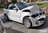 Damaged BMW 120i 2010 for Sale