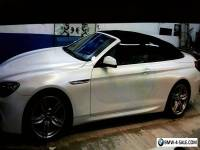 *** PEARL WHITE BMW 640D FULLY LOADED SOFT TOP***