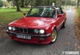BMW E30 325i Convertible RED M52B28 2.8 Conversion E36 M3 Brakes Suspension Rare for Sale