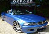 SUPERB BMW M3 CONVERTIBLE, INDIVIDUAL ESTORIL BLUE + CHAMPAGNE LEATHER, 72K, FSH for Sale