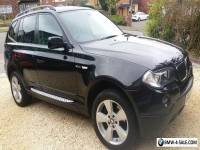BMW X3 2.0D SE black, 70k miles, leather, satnav, alloys, FSH