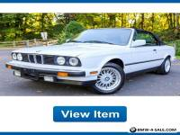 1989 BMW 3-Series Base Convertible 2-Door