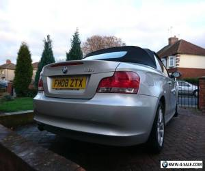 BMW 118i convertible. Silver with red leather seats for Sale