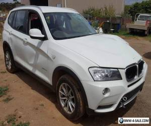 2011 BMW X3 WAGON 4X4 xDrive20d F25 2.0L TURBO DIESEL AUTO DAMAGED REPAIRABLE  for Sale