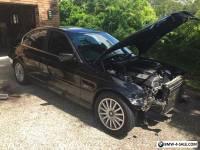 BMW 323i 1999 E46 Black front end damage, drives - good car otherwise E46