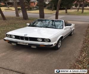 1988 BMW 3-Series alpine white for Sale