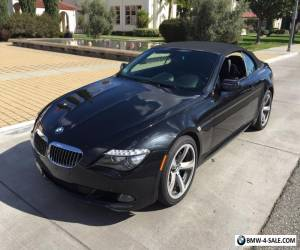 2009 BMW 6-Series 2009 BMW 650I CONVERTIBLE for Sale
