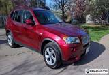 2011 BMW X3 28i Vermilion Red for Sale