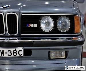 BMW 1986 M6. FULLY RESTORED WORLD FAMOUS M6 VERY RARE & COLLECTABLE for Sale