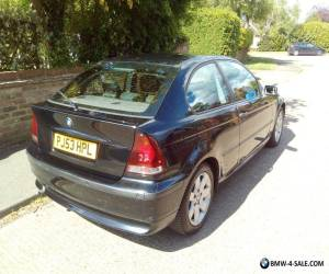 BMW 3 Series Compact BLACK MSPORT 1.8 53 plate for Sale