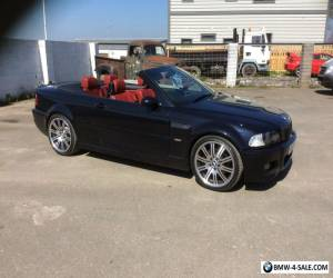 BMW M3 Convertible E46 , blue black with red leather  for Sale