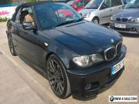 2005 BMW 320 CI M SPORT BLACK CONVERTIBLE - LONG MOT, ALPINE CD