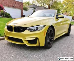 2015 BMW M4 convertible manual for Sale