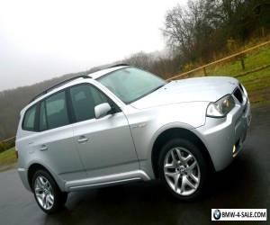 2007/57 BMW X3 2.0d M SPORT 5DR DIESEL 4X4 SILVER COLOUR CODED LOW MILEAGE FSH for Sale