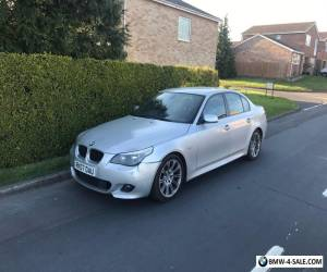 BMW M Sport 520D 2007 Reg 5 Series Silver Saloon for Sale