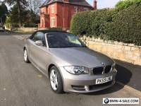 BMW 2dr 1 SERIES CONVERTIBLE 2.0 118d Sport 62400 Miles