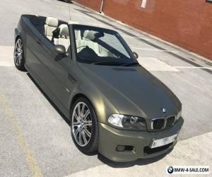 BMW E46 M3 INDIVIDUAL CONVERTIBLE. True classic ever appreciating. 52K MILES for Sale