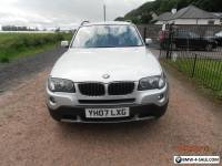 BMW X 3 2.0 LITRE SE 5 DOOR SILVER BLACK TRIM