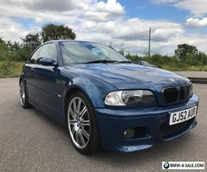BMW E46 M3 2002 6 SPEED MANUAL FULL SERVICE HISTORY NOT MODIFIED  for Sale