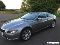 BMW 630i  Auto 2dr SAT NAV  Grey with BLACK LEATHER LOW MILEAGE FSH Full Mot