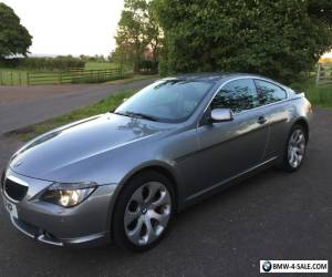 BMW 630i  Auto 2dr SAT NAV  Grey with BLACK LEATHER LOW MILEAGE FSH Full Mot for Sale