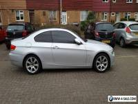 BMW 3 series coupe 2008 325d SE e92 3ltr silver & black roof
