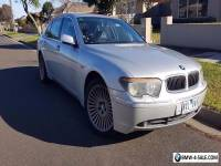 BMW  735Li 2002 Silver Black interior